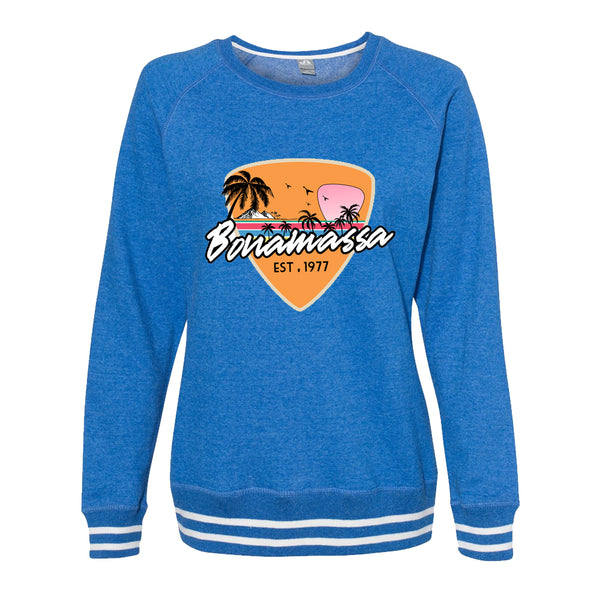 Blues Sunset Crew Sweatshirt (Women) - Royal