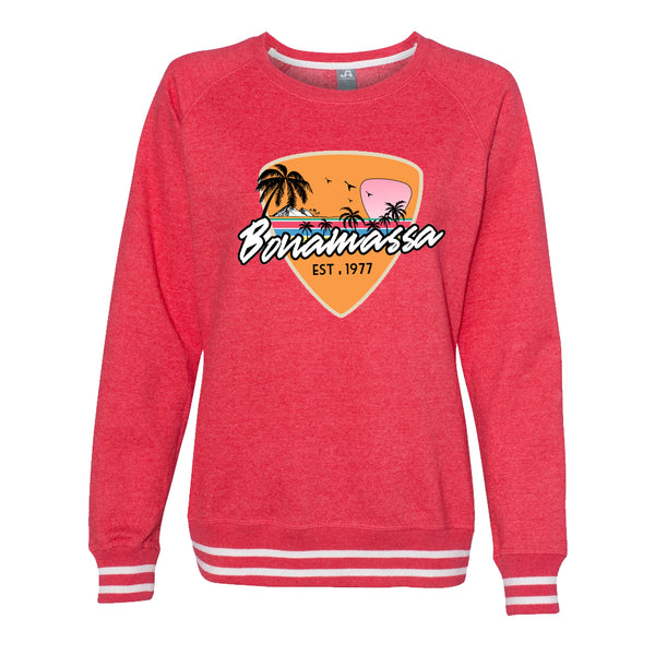 Blues Sunset Crew Sweatshirt (Women) - Red