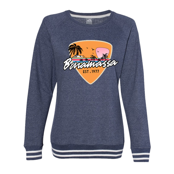 Blues Sunset Crew Sweatshirt (Women) - Navy