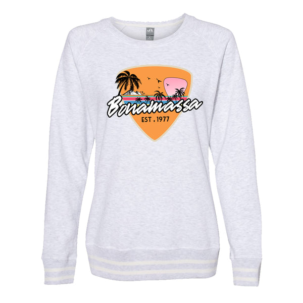 Blues Sunset Crew Sweatshirt (Women) - Ash