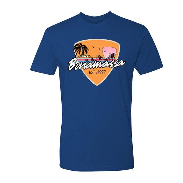Blues Sunset T-Shirt (Unisex) - Royal Blue