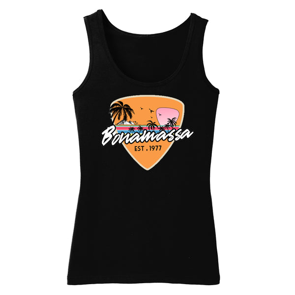 Blues Sunset Tank (Women) - Black