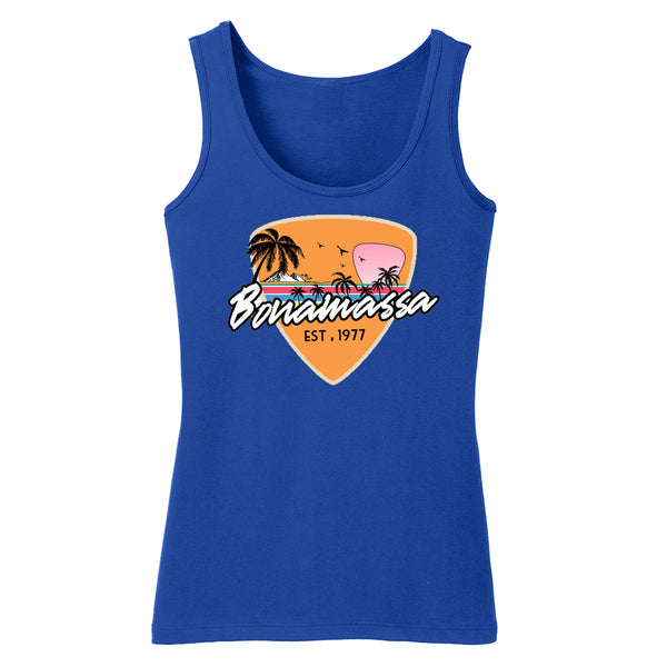 Blues Sunset Tank (Women) - Deep Royal