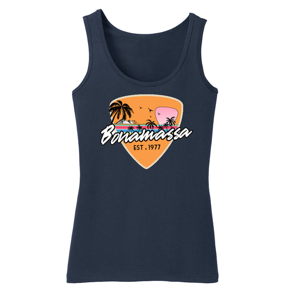 Blues Sunset Tank (Women) - Navy