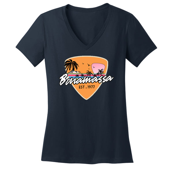 Blues Sunset V-Neck (Women) - Navy