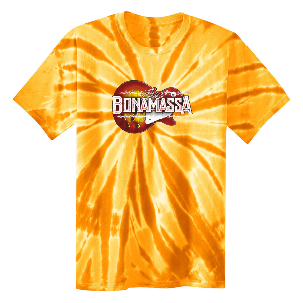 Electric Sunburst Tie Dye T-Shirt (Unisex) - Gold