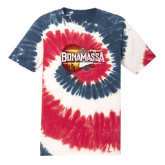 Electric Sunburst Tie Dye T-Shirt (Unisex) - Red/White/Blue