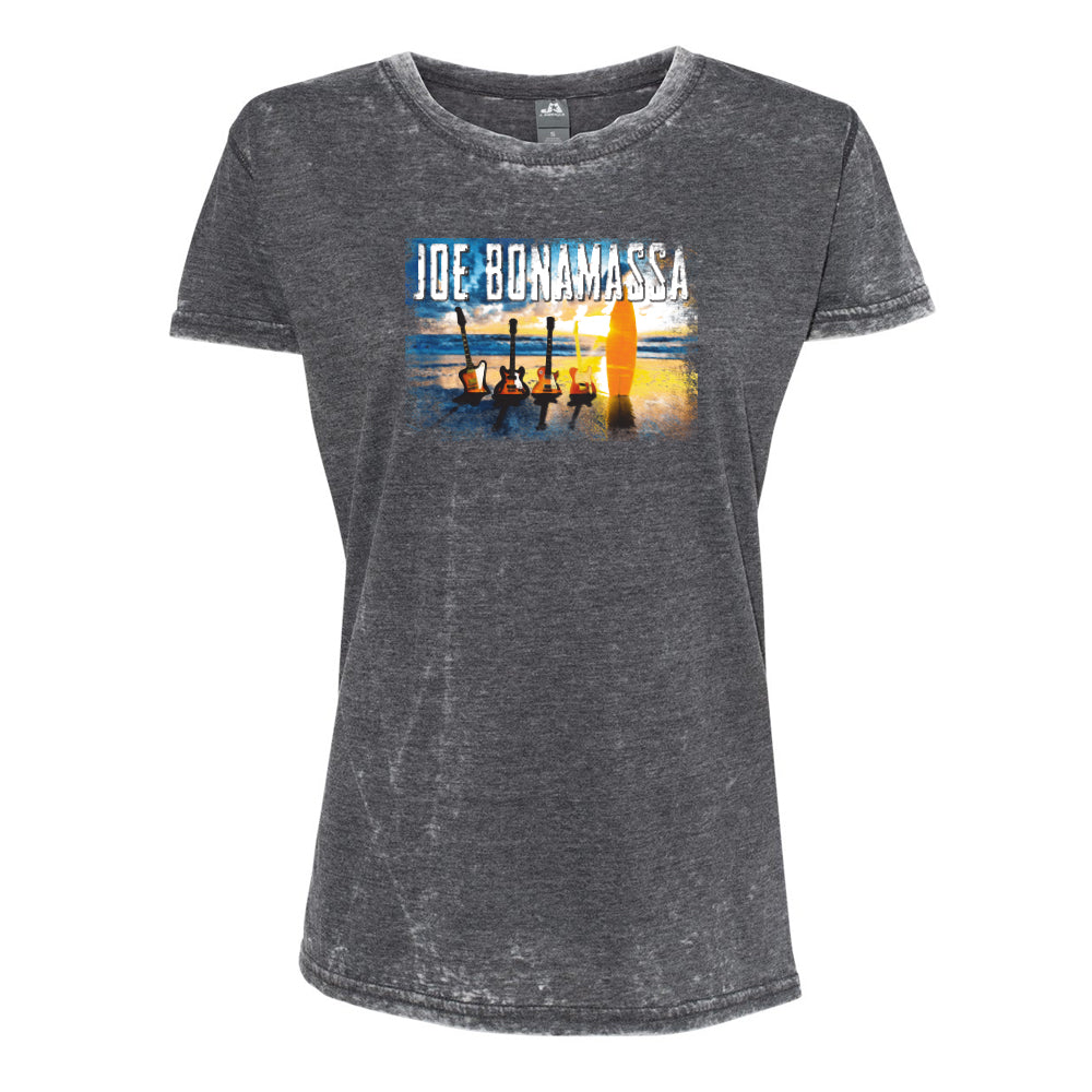 Sunset Blues J. America T-Shirt (Women) - Dark Smoke