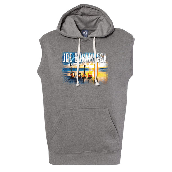 Sunset Blues J. America Sleeveless Hooded Sweatshirt (Men) - Smoke Tri-Blend