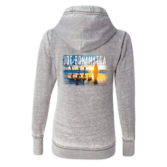Sunset Blues J. America Zip-Up Hooded Sweatshirt (Women) - Cement