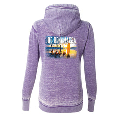 Sunset Blues J. America Zip-Up Hooded Sweatshirt (Women) - Very Berry
