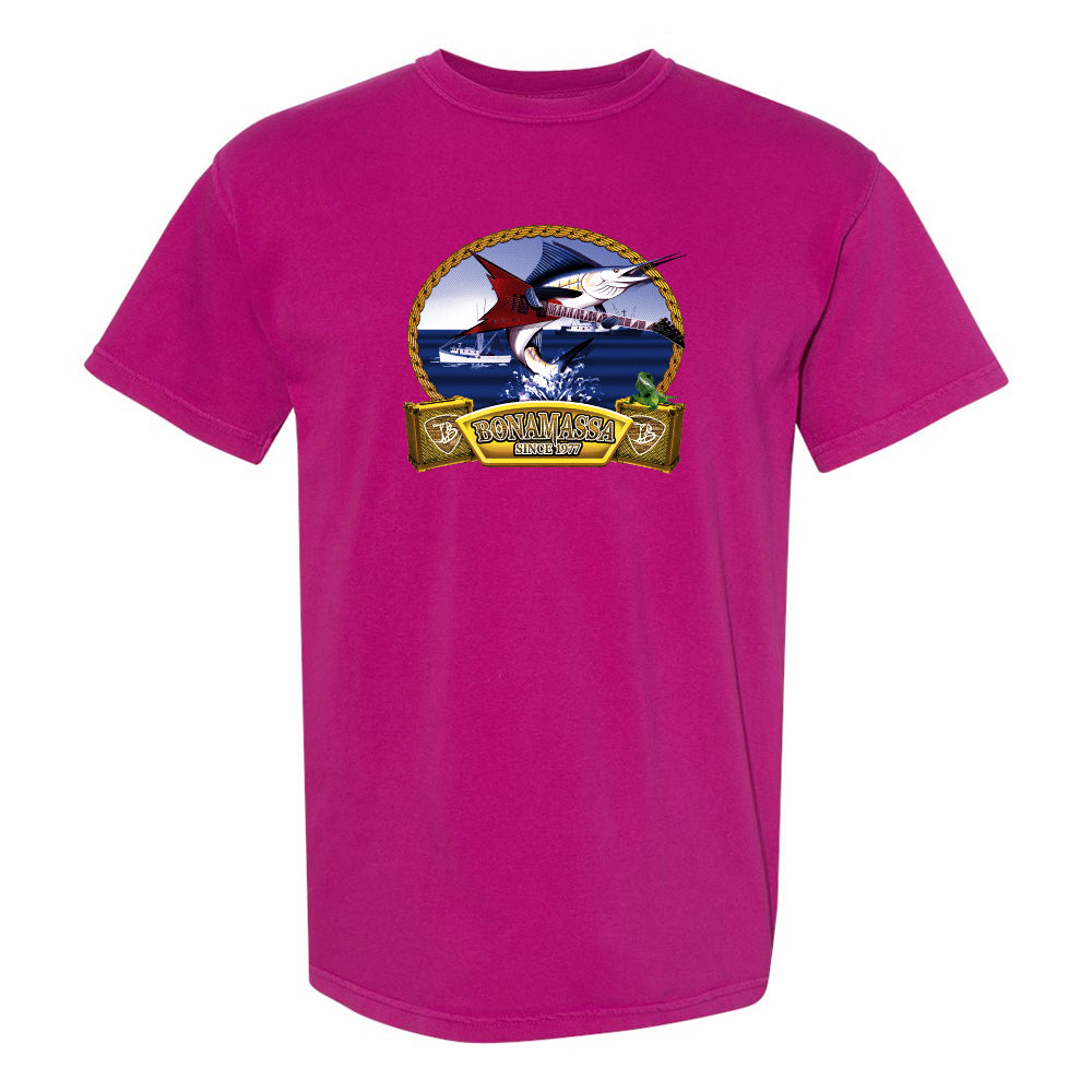 Bonamassa's Flying V Fish Comfort Colors T-Shirt (Unisex) - Berry