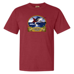 Bonamassa's Flying V Fish Comfort Colors T-Shirt (Unisex) - Crimson