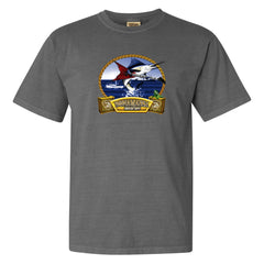 Bonamassa's Flying V Fish Comfort Colors T-Shirt (Unisex) - Grey