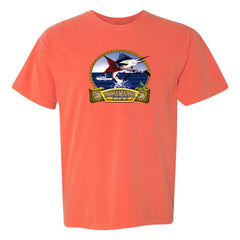 Bonamassa's Flying V Fish Comfort Colors T-Shirt (Unisex) - Salmon