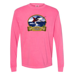 Bonamassa's Flying V Fish Comfort Colors Long Sleeve T-Shirt (Unisex) - Crunchberry