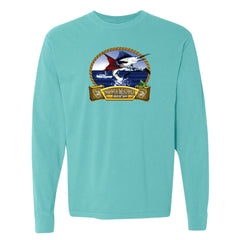 Bonamassa's Flying V Fish Comfort Colors Long Sleeve T-Shirt (Unisex) - Lagoon