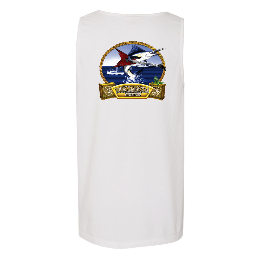 Bonamassa's Flying V Fish Comfort Colors Pocket Tank Top (Unisex) - White
