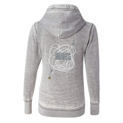 Tangled Up in Blues J. America Zip-Up Hooded Sweatshirt (Women) - Cement