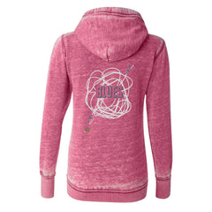 Tangled Up in Blues J. America Zip-Up Hooded Sweatshirt (Women) - Wild Berry