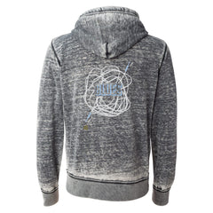 Tangled Up in Blues J. America Zip-Up Hooded Sweatshirt (Men) - Dark Smoke