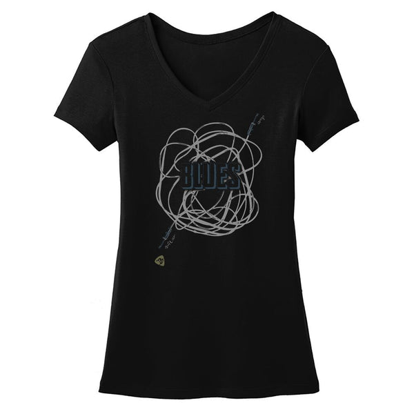 JB Tangled Up in Blues V-Neck (Women)
