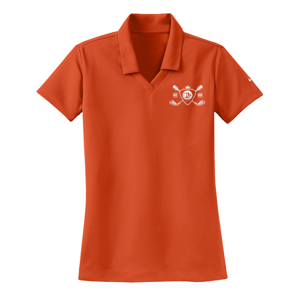 Blues Bogey Nike Dri-FIT Micro Pique Polo (Women) - Team Orange