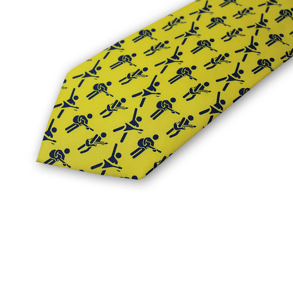 Guitar Player - Blue / Yellow Tie