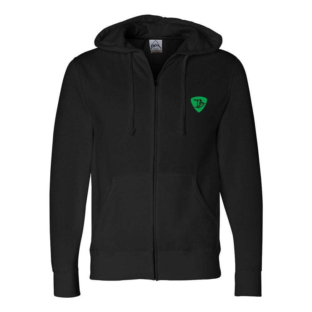 JB Top Notch Zip-Up Hoodie (Unisex) - Black