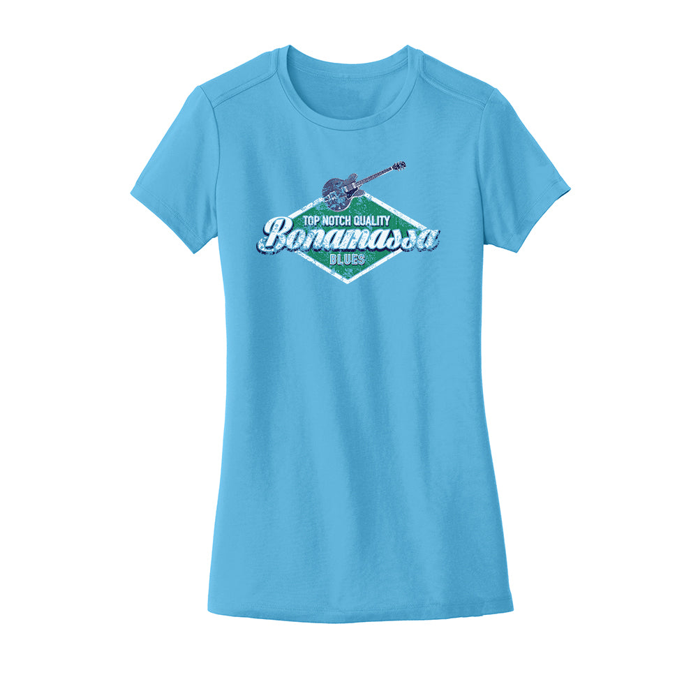 Top Notch New Era Crew T-Shirt (Women) - Sky Blue