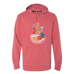 Blues Travels Comfort Colors Hooded Pullover (Unisex) - Crimson