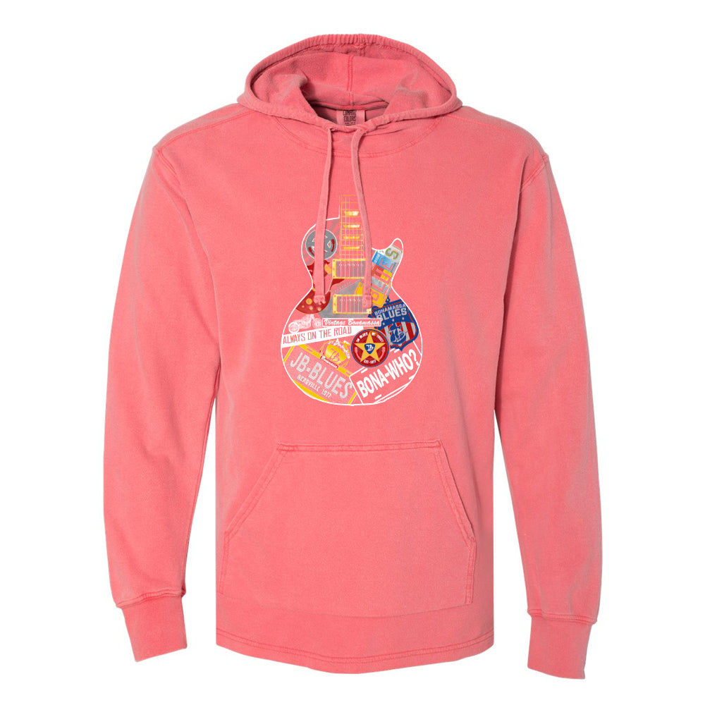 Blues Travels Comfort Colors Hooded Pullover (Unisex) - Watermelon