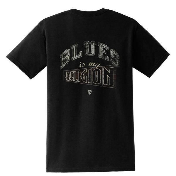 Tribut - Blues is My Religion Pocket T-Shirt (Unisex)