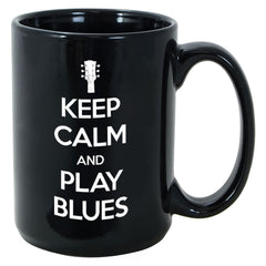 Tribut - Keep Calm And Play Blues Mug