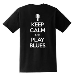 Tribut - Keep Calm And Play Blues Pocket T-Shirt (Unisex)