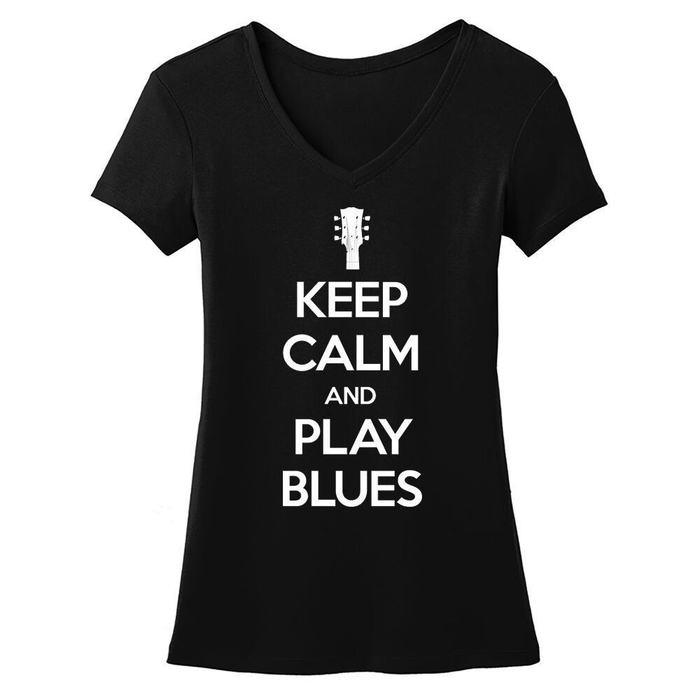 Tribut - Keep Calm And Play Blues V-Neck (Women)