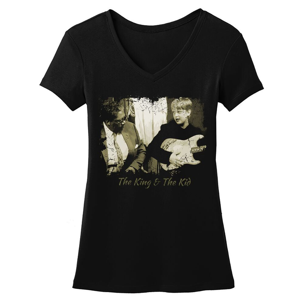 Tribut - The King and The Kid V-Neck (Women)