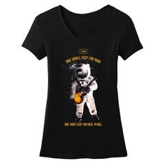Tribut - One Giant Leap for Rock n Roll V-Neck (Women)