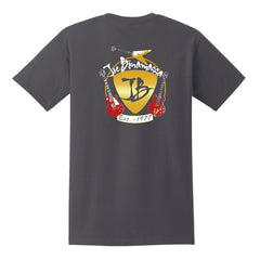 Guitar Trifecta Pocket T-Shirt (Unisex) - Charcoal