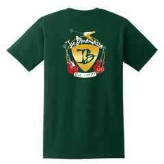 Guitar Trifecta Pocket T-Shirt (Unisex) - Forest