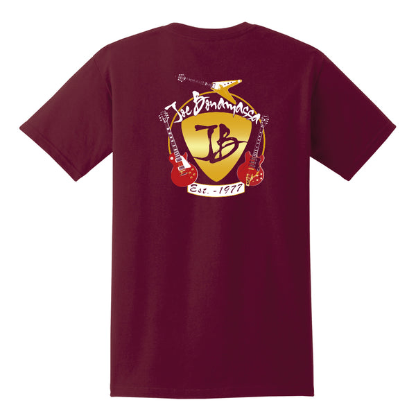 Guitar Trifecta Pocket T-Shirt (Unisex) - Maroon