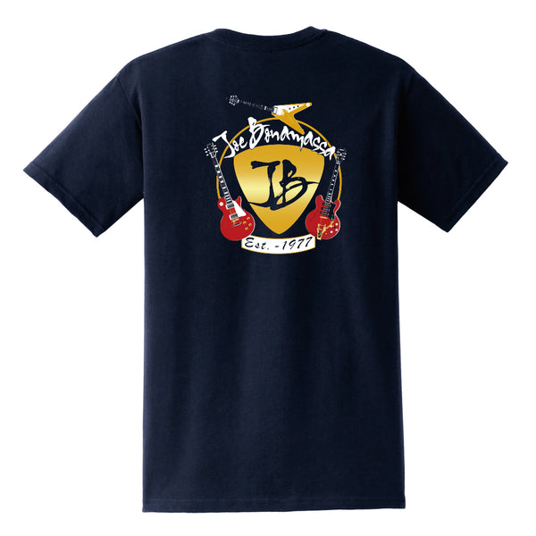 Guitar Trifecta Pocket T-Shirt (Unisex) - Navy