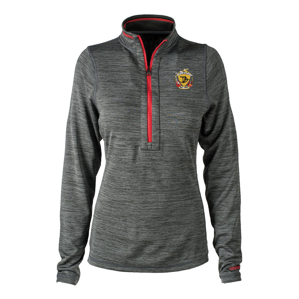 Guitar Trifecta Reebok Circuit 1/4 Zip-Up (Women) - Grey