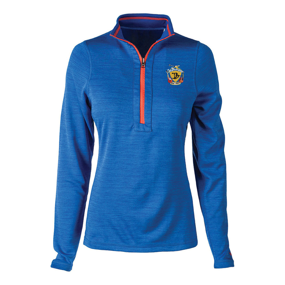 Guitar Trifecta Reebok Circuit 1/4 Zip-Up (Women) - Royal