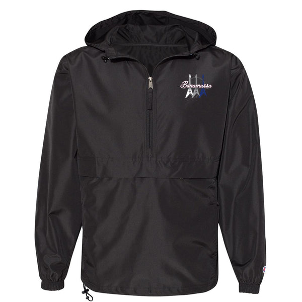 Triple Flying V Champion Packable Quarter-Zip Jacket (Unisex) - Black