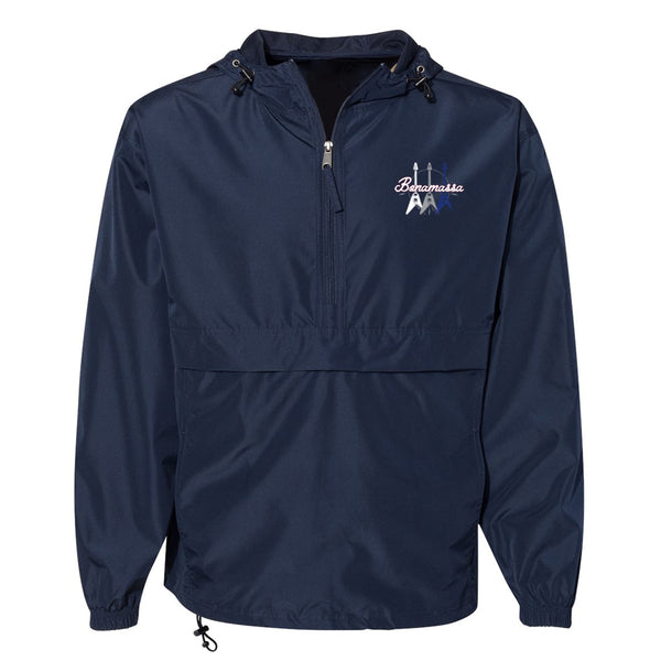 Triple Flying V Champion Packable Quarter-Zip Jacket (Unisex) - Navy