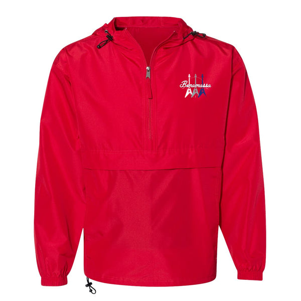 Triple Flying V Champion Packable Quarter-Zip Jacket (Unisex) - Red