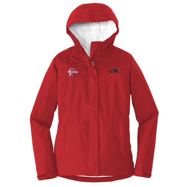 Triple Flying V The North Face Rain Jacket (Women) - Red