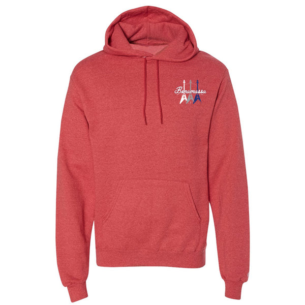 Triple Flying V Champion Hooded Sweatshirt (Unisex) - Red Heather