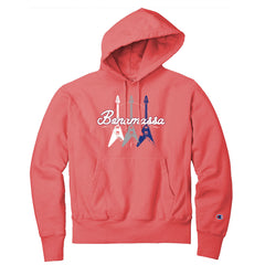 Triple Flying V Champion Reverse Weave Hooded Sweatshirt (Unisex) - Coral